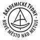 černobílé kulaté logo Akademické týdny Nové Město nad Metují