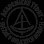 černobílé kulaté logo Akademické týdny Sněžné v Orlických horách
