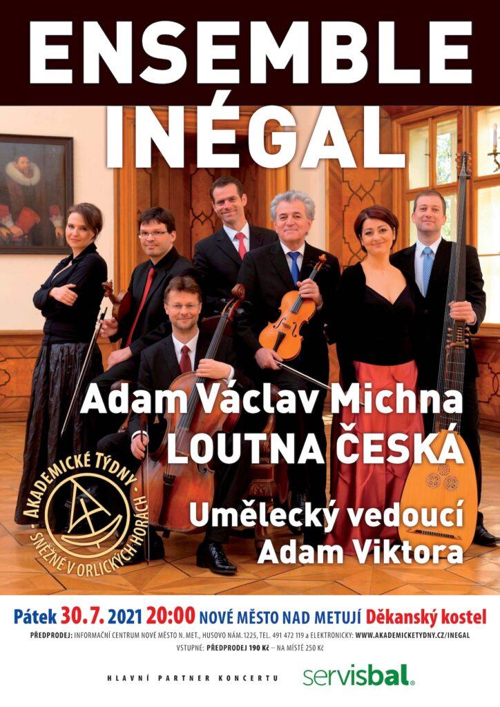 Plakát koncertu Ensemble Inégal – Loutna česká
