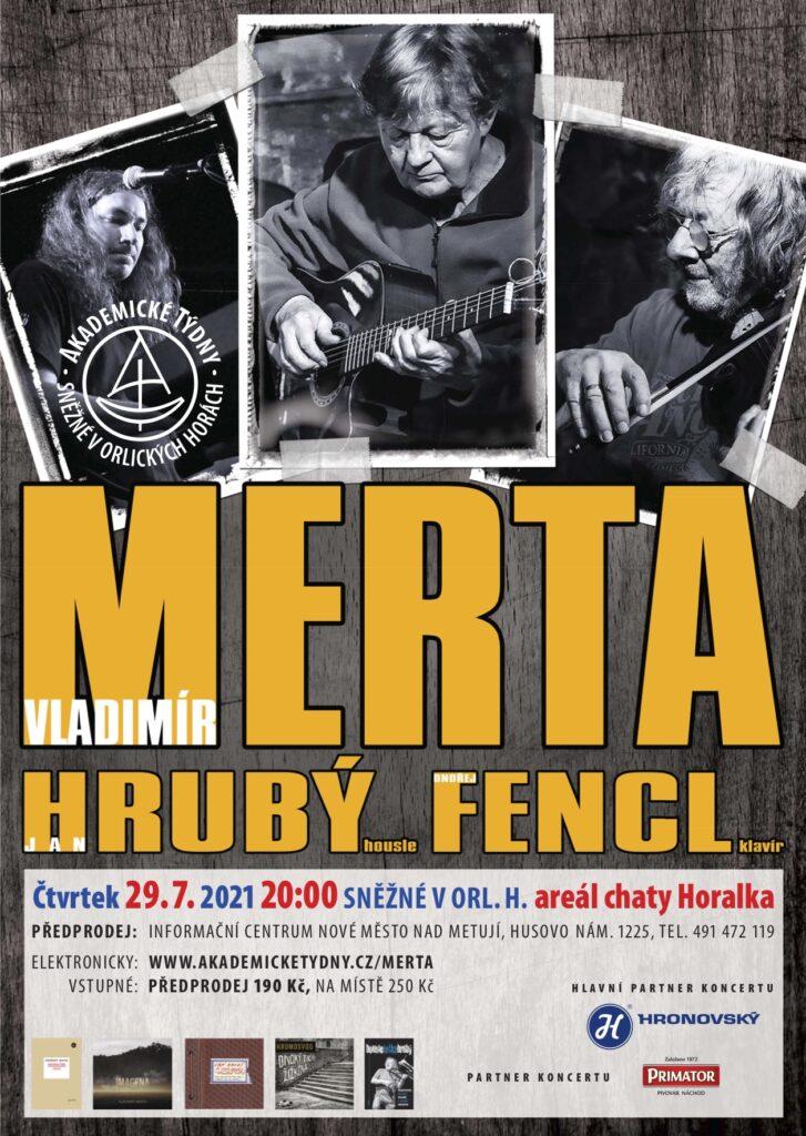 Plakát koncertu tria Merta, Hrubý, Fencl